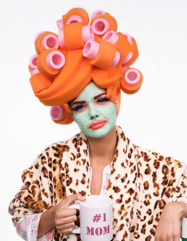 #1 mom halloween makeup