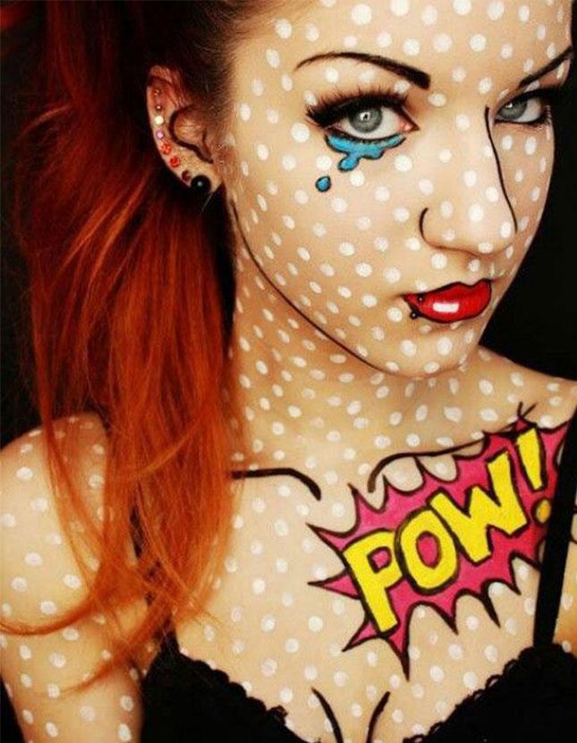 comic girl halloween makeup