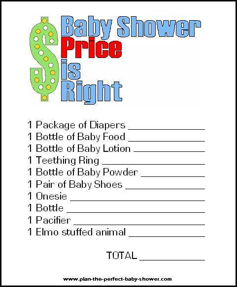 Printable Baby Shower Games Promo Time