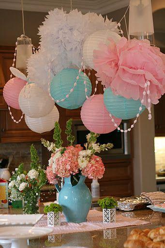 Tissue flowers and paper lanterns design ideas promo time tissue flowers and paper lanterns to make an inexpensive chandelier mightylinksfo