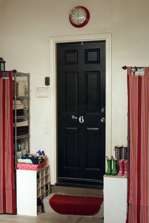 Organize the garage entrance