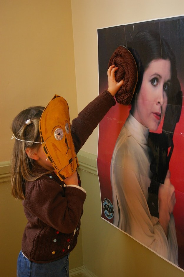 And you can't forget this twist on a classic: pin the bun on the Leia.