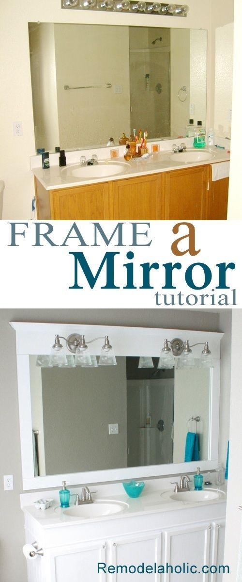 frame a bathroom mirror