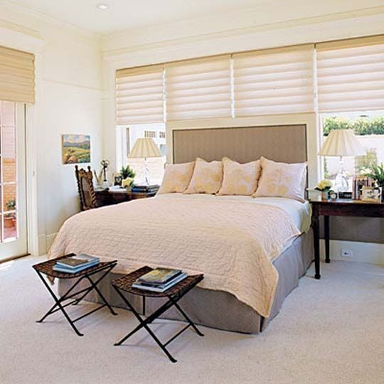 Master bedroom should be simple, clean, and inviting. #master #bedroom #bed #hom
