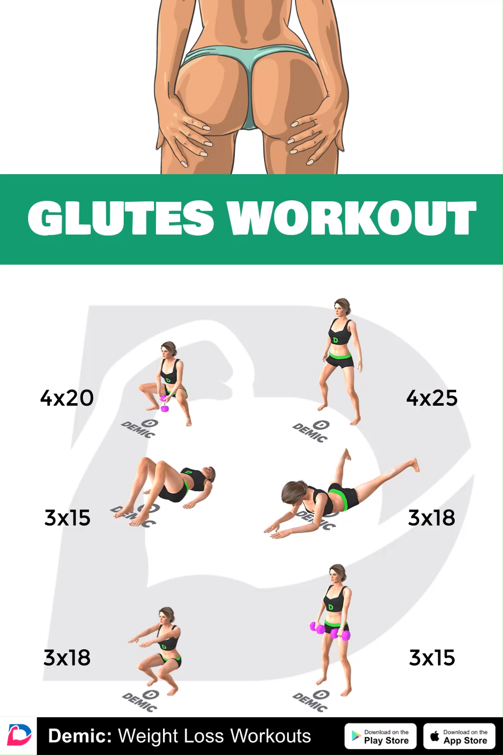 Glutes Workout -   13 fitness Mujer ejercicio ideas