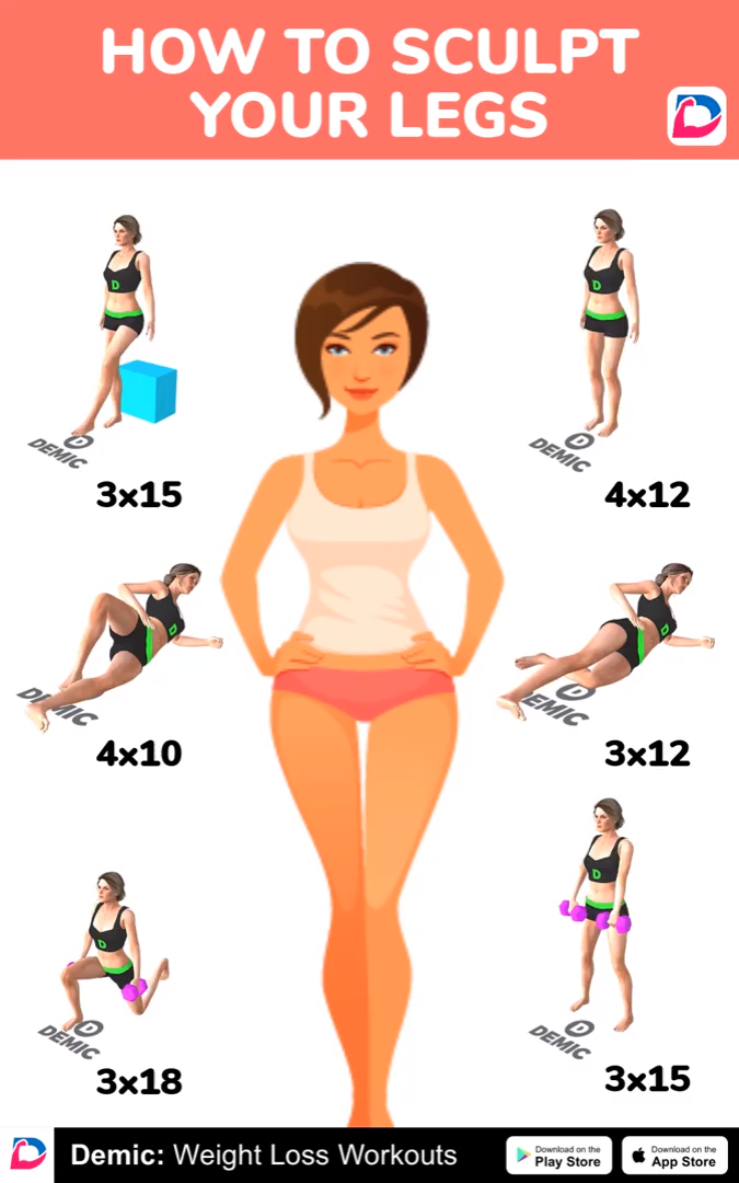 Home Sculpt Your Legs Workout -   13 fitness Mujer ejercicio ideas