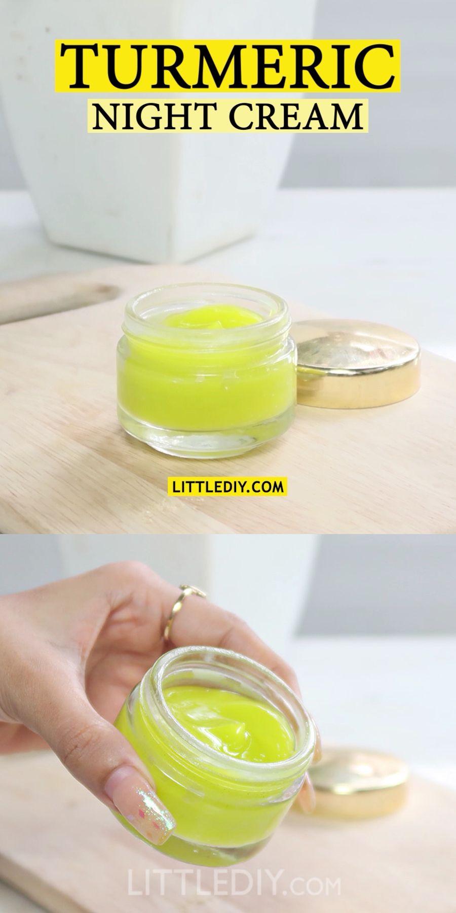 TURMERIC NIGHT SERUM for healthy glowing skin - Little DIY -   12 beauty Mask face ideas
