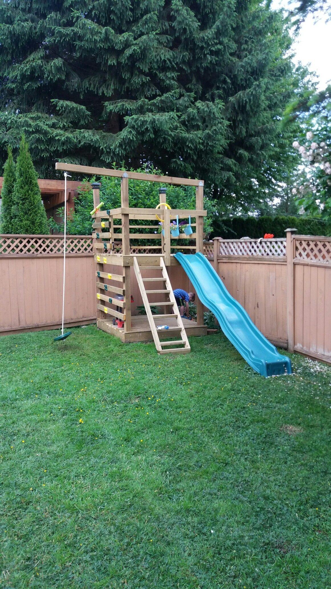 DIY Play structure -   DIY backyard for Kids