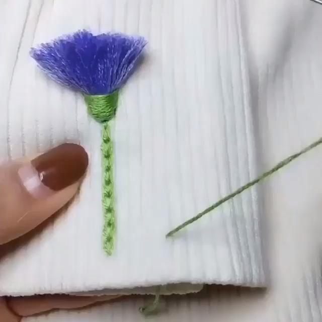 Flores bordadas para la ropa 🌻 DIY -   Amazing DIY Videos