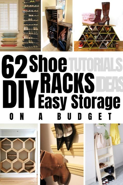 62 Easy DIY Shoe Rack Storage Ideas You Can Build on a Budget -   13 diy Storage shoes ideas