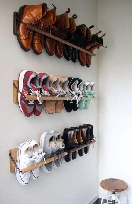 Simple shoe putting device -   13 diy Storage shoes ideas