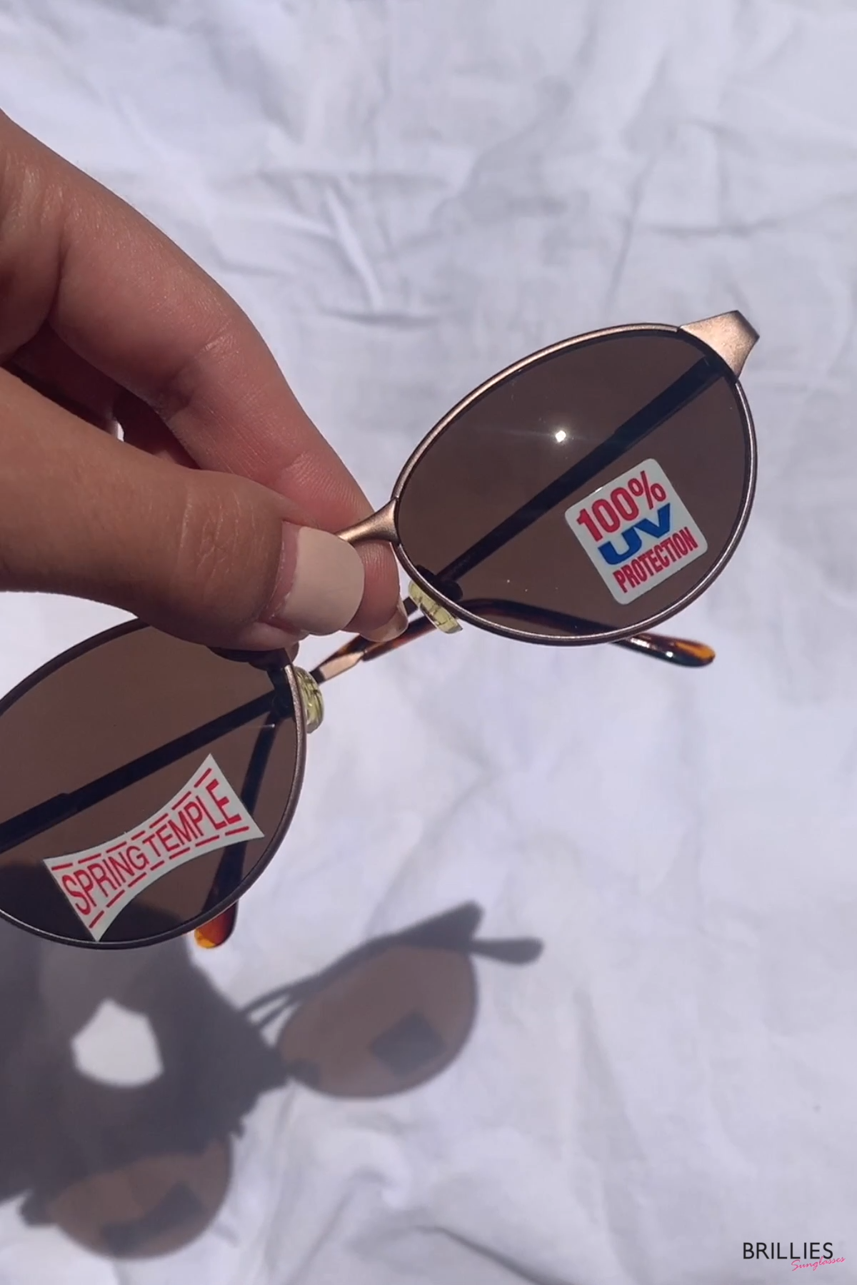 90's Oval Sunglasses NOS | Gold bronze vintage sunglasses | Deadstock round sunglasses -   19 style 90s videos ideas