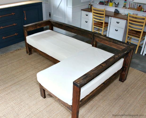DIY Crib Mattress Sectional Sofa - Jaime Costiglio -   15 diy Muebles sillones ideas
