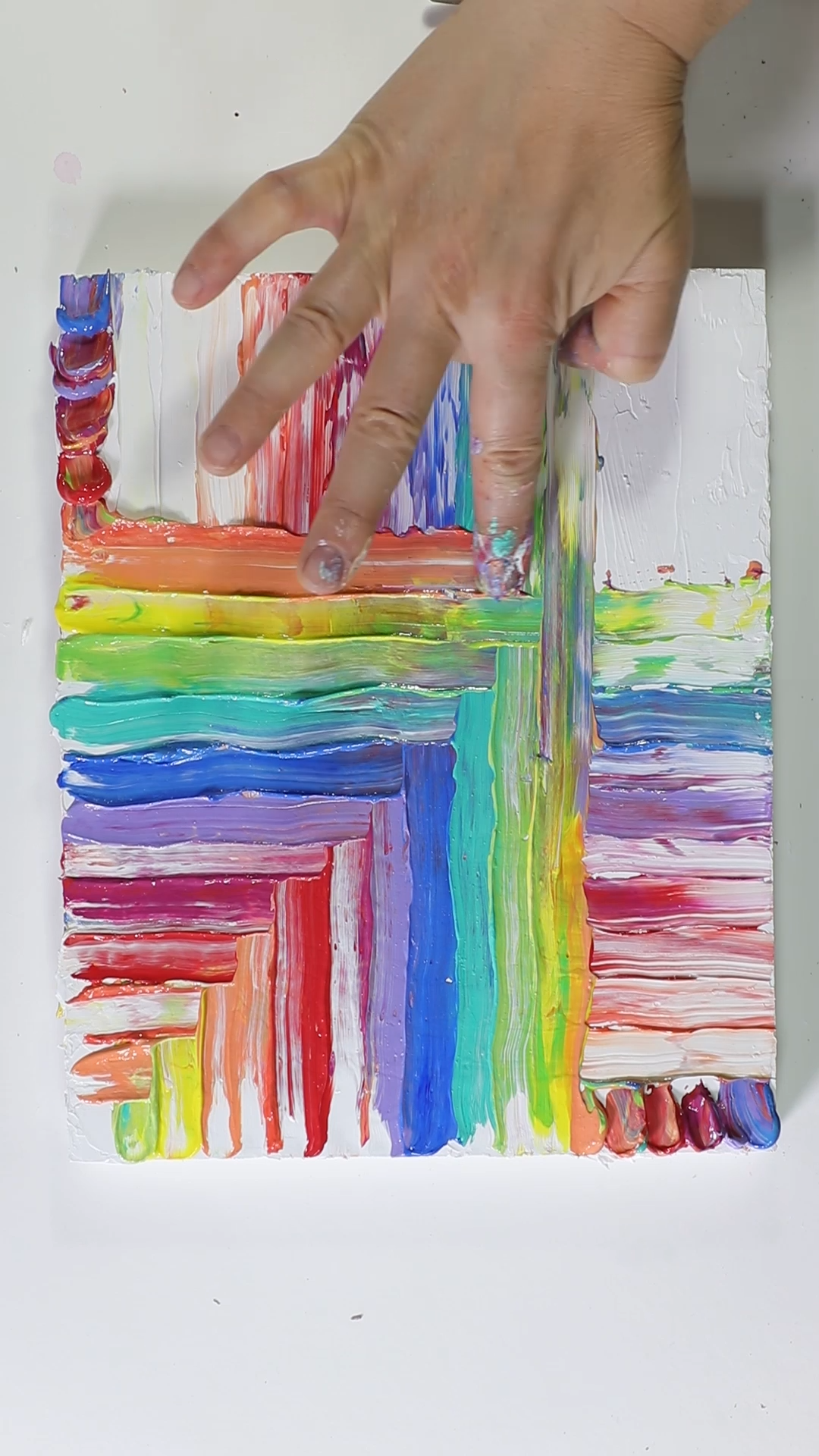 Mesmerizing Acrylic Finger Painting by Josie Lewis -   19 diy Art videos ideas